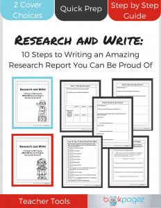 Research and Write Cover Teacher Tool