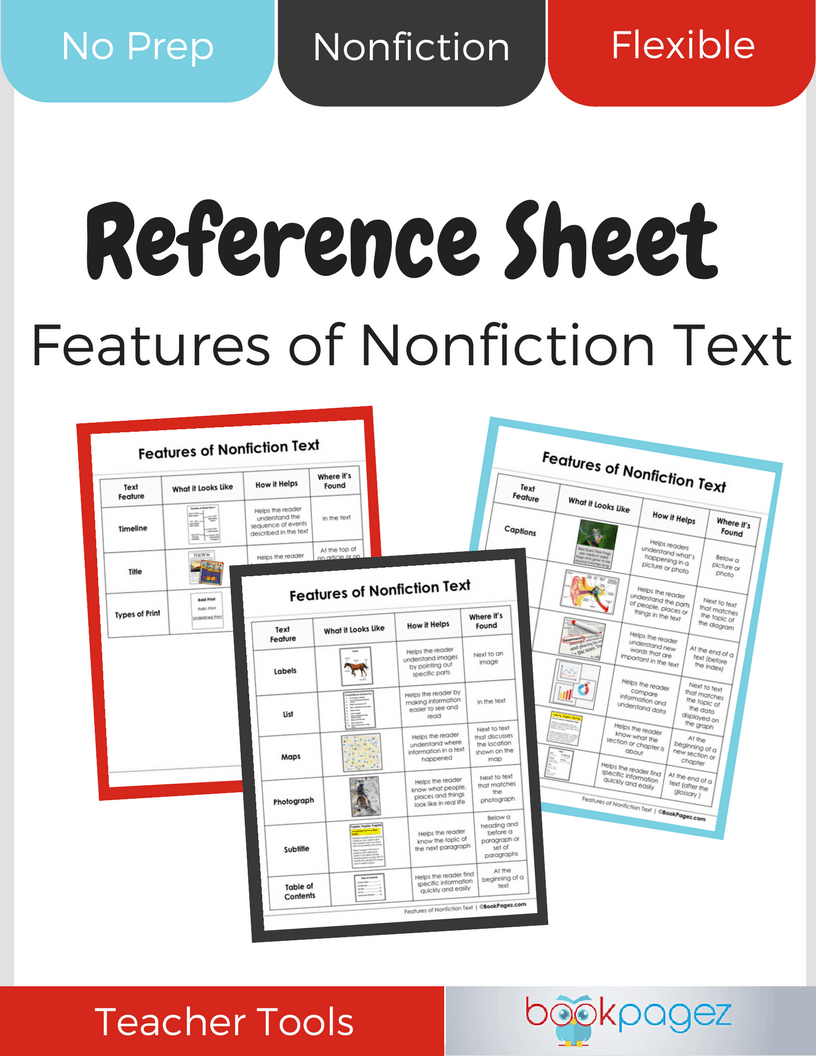 Features of NF Text Reference Sheet_Cover