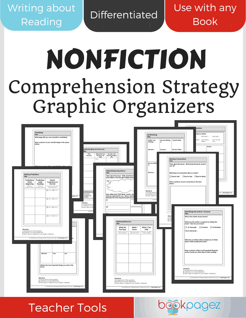 Comprehension Strategy Graphic Organizers Cover