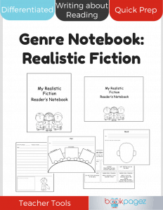 Realistic Fiction Genre Notebook Cover